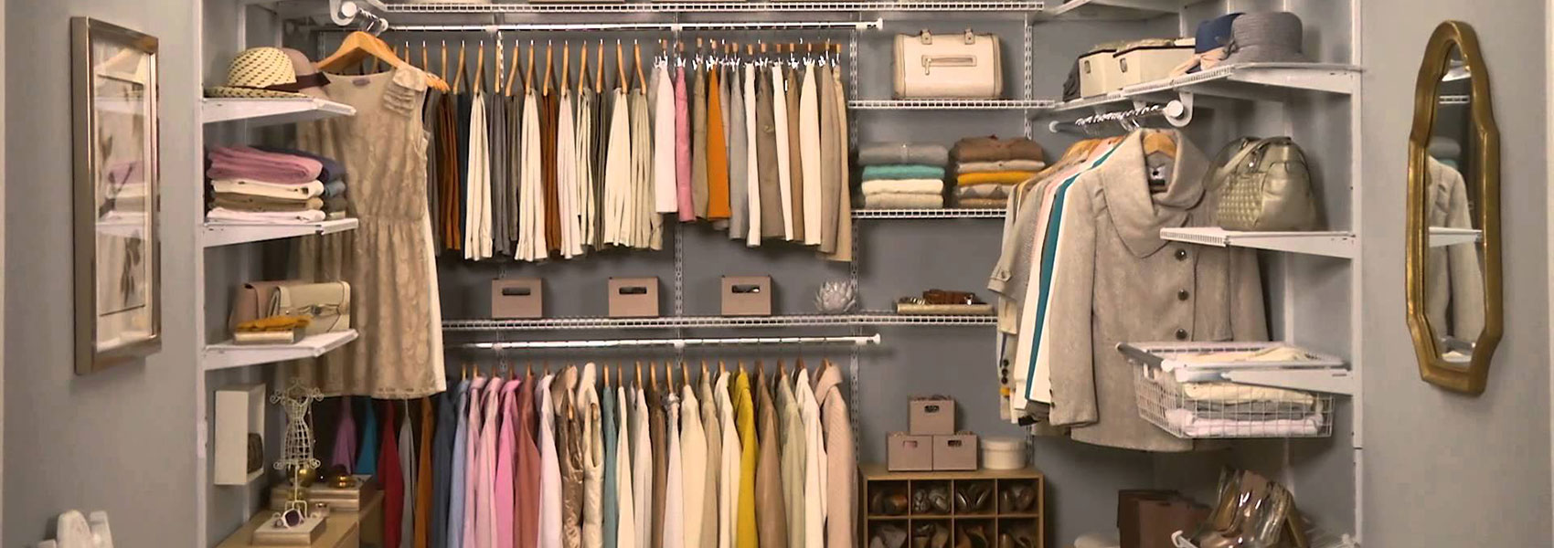 The closet factory has the best maintenance free organizational solutions for your home